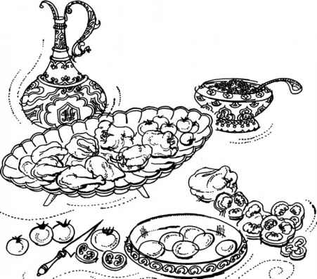 Coloring Pages Biryani
